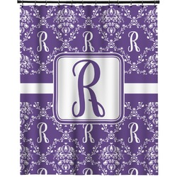 """Initial Damask Extra Long Shower Curtain - 70""""x84"""" (Personalized)"""