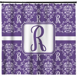Initial Damask Shower Curtain (Personalized)