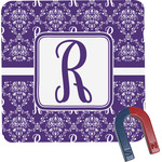 Initial Damask Square Fridge Magnet (Personalized)