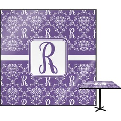 Initial Damask Square Table Top (Personalized)