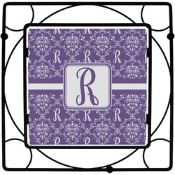 Initial Damask Square Trivet (Personalized)