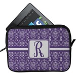 Initial Damask Tablet Case / Sleeve (Personalized)