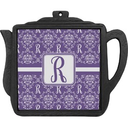 Initial Damask Teapot Trivet (Personalized)