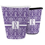 Initial Damask Waste Basket (Personalized)