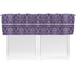 Initial Damask Valance (Personalized)