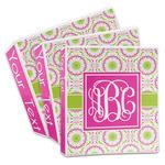 Pink & Green Suzani 3-Ring Binder (Personalized)