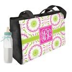 Pink & Green Suzani Diaper Bag w/ Monogram