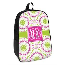 Pink & Green Suzani Kids Backpack (Personalized)