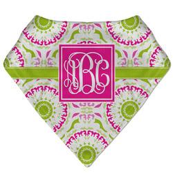Pink & Green Suzani Bandana Bib (Personalized)
