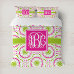 Pink & Green Suzani Duvet Cover (Personalized)