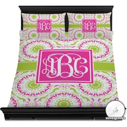 Pink & Green Suzani Duvet Cover Set (Personalized)