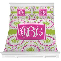 Pink & Green Suzani Comforters (Personalized)