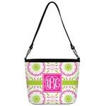 Pink & Green Suzani Bucket Bag w/ Genuine Leather Trim (Personalized)