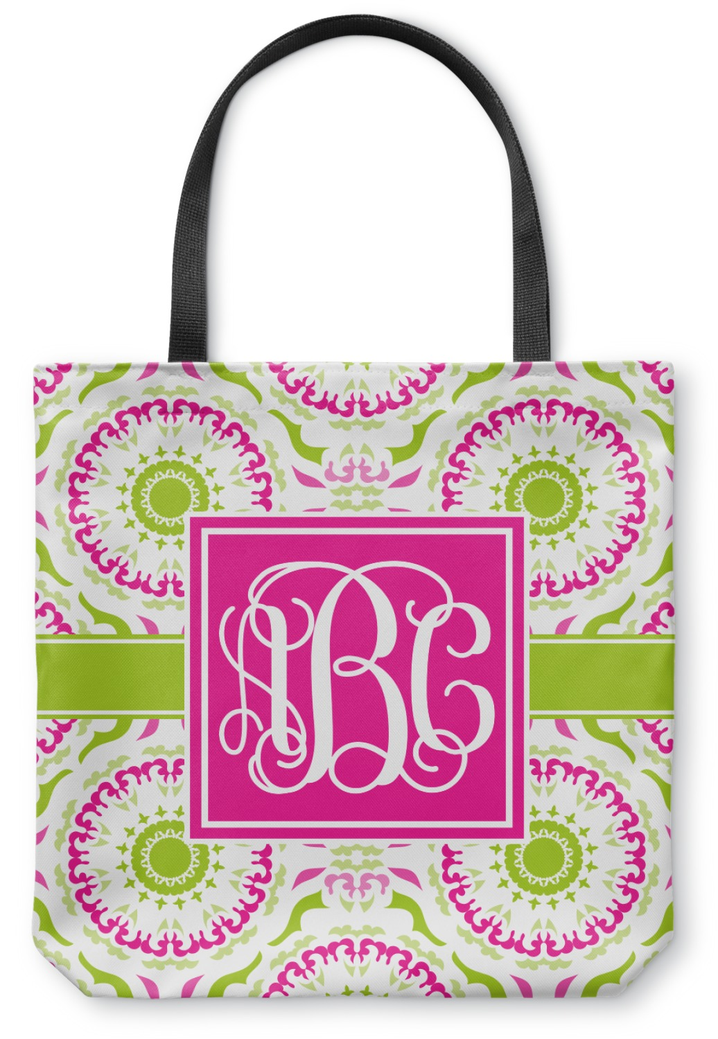 Pink Amp Green Suzani Canvas Tote Bag Personalized