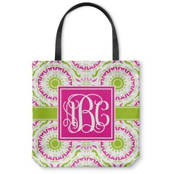 Pink & Green Suzani Canvas Tote Bag (Personalized)
