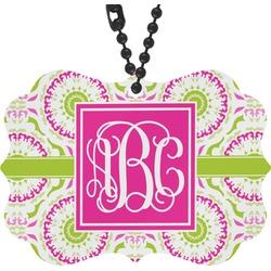 Pink & Green Suzani Rear View Mirror Decor (Personalized)
