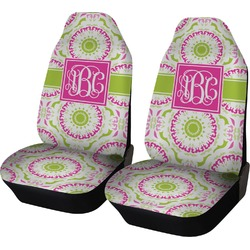 Pink & Green Suzani Car Seat Covers (Set of Two) (Personalized)