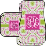 Pink & Green Suzani Car Floor Mats (Personalized)