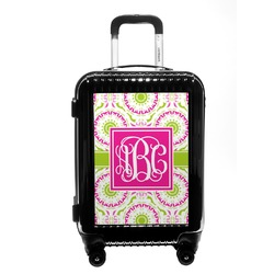 Pink & Green Suzani Carry On Hard Shell Suitcase (Personalized)