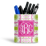 Pink & Green Suzani Ceramic Pen Holder