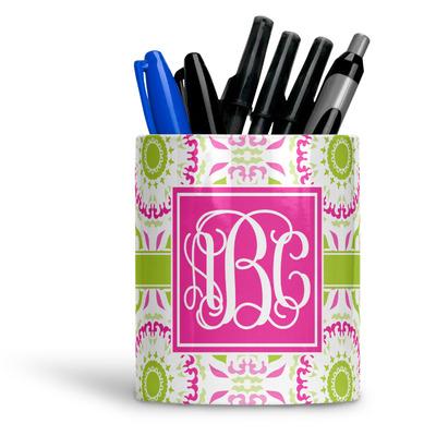 Pink & Green Suzani Ceramic Pen Holder