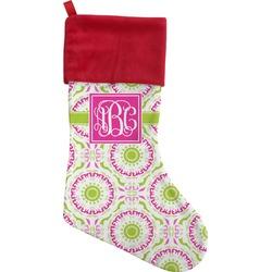 Pink & Green Suzani Christmas Stocking (Personalized)