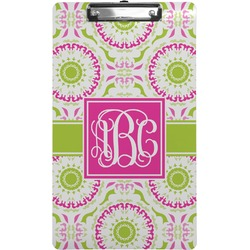 Pink & Green Suzani Clipboard (Legal Size) (Personalized)