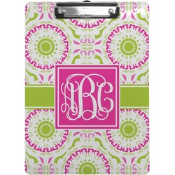 Pink & Green Suzani Clipboard (Personalized)