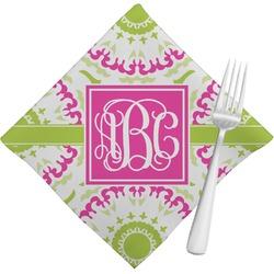 Pink & Green Suzani Napkins (Set of 4) (Personalized)