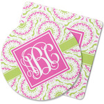 Pink & Green Suzani Rubber Backed Coaster (Personalized)
