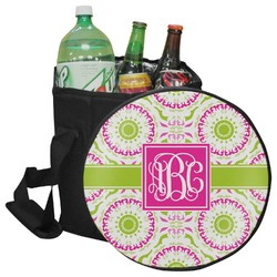 Pink & Green Suzani Collapsible Cooler & Seat (Personalized)