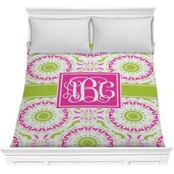 Pink & Green Suzani Comforter (Personalized)