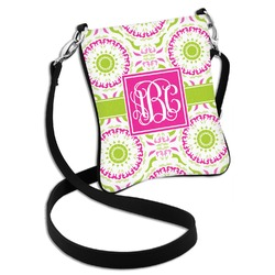 Pink & Green Suzani Cross Body Bag - 2 Sizes (Personalized)