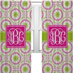Pink & Green Suzani Curtains (2 Panels Per Set) (Personalized)