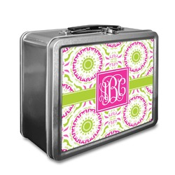 Pink & Green Suzani Lunch Box (Personalized)