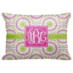 """Pink & Green Suzani Decorative Baby Pillowcase - 16""""x12"""" (Personalized)"""