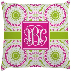 Pink & Green Suzani Decorative Pillow Case (Personalized)