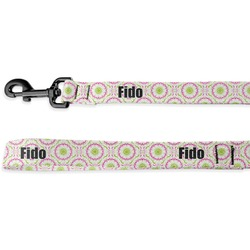 Pink & Green Suzani Deluxe Dog Leash (Personalized)