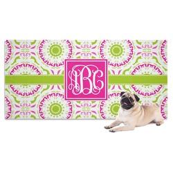 Pink & Green Suzani Pet Towel (Personalized)