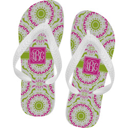 Pink & Green Suzani Flip Flops (Personalized)
