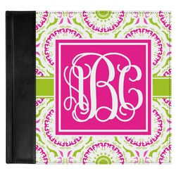 Pink & Green Suzani Genuine Leather Baby Memory Book (Personalized)