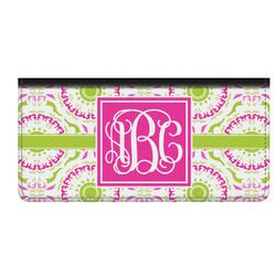 Pink & Green Suzani Genuine Leather Checkbook Cover (Personalized)