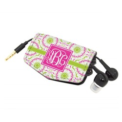 Pink & Green Suzani Genuine Leather Cord Wrap (Personalized)
