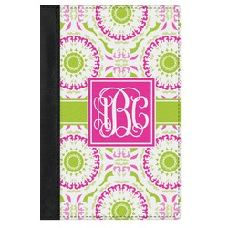 Pink & Green Suzani Genuine Leather Passport Cover (Personalized)