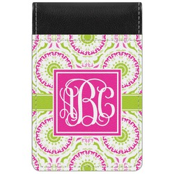Pink & Green Suzani Genuine Leather Small Memo Pad (Personalized)