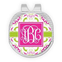 Pink & Green Suzani Golf Ball Marker - Hat Clip