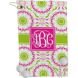 Pink & Green Suzani Golf Towel - Full Print (Personalized)