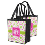 Pink & Green Suzani Grocery Bag (Personalized)