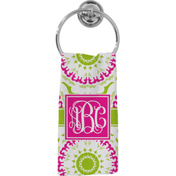 Pink & Green Suzani Hand Towel - Full Print (Personalized)