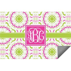 Pink & Green Suzani Indoor / Outdoor Rug (Personalized)